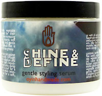 shine & define hair product