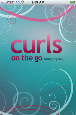 Curls on the Go mobile app