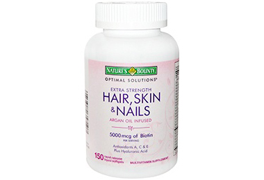 Nature's Bounty Optimal Solutions Extra Strength Hair, Skin and Nails Argan Oil Infused Multivitamins