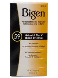 #59 Oriental Black Permanent Powder Hair Color