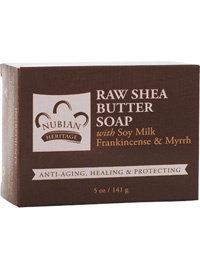 Raw Shea Butter Soap with Soy Milk, Frankincense & Myrrh
