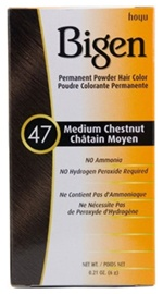 #47 Medium Chestnut Permanent Powder Hair Color