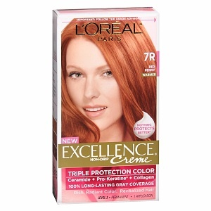 Excellence Creme Haircolor, Red Penny 7R