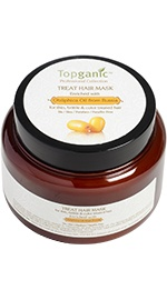 Treat Hair Mask with Obliphica Oil from Russia - Thin, Brittle & Color Treated Hair