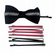 Bed Head Zipper Bow Bobby Pins & Enamel Bobby Pins