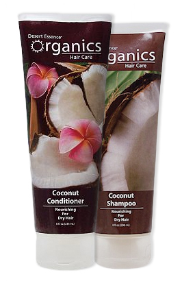 Desert Essence Coconut Shampoo and Conditioner