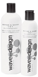 Wave By Design Define and Shine 2 N 1 Dry Finishing Lotion