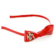 Ed Hardy Pleather Bow Skinny Headband
