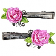 Ed Hardy Rose Clips