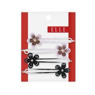 Elle  4 pk Flower Bobby Pins