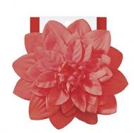 Elle Large Flower Salon Clip- Orange