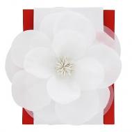 Elle Large Flower Salon Clip- White