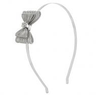 Elle Silver Bow Headband
