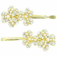 France Luxe Pearl Crystal Clover Bobbie Pairs