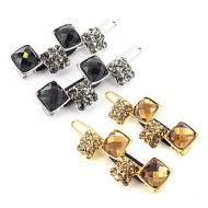 France Luxe Stacked Crystals Bobbie Pins