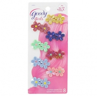 Goody Girls Plastic Flower Jeanwire Barrettes, 8 CT