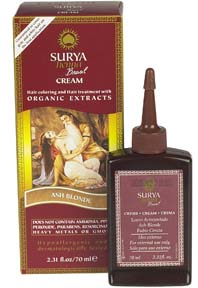 Henna Cream Hair Coloring and Hair Treatment with Organic Extracts