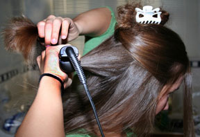 straightening curly Hair