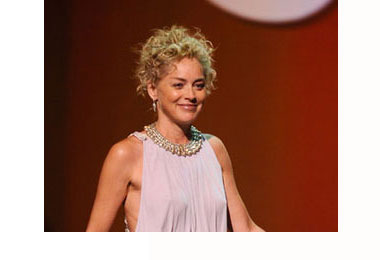 Sharon Stone Goes Curly