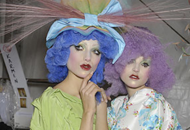John Galliano Turns Hair into Modern Art
