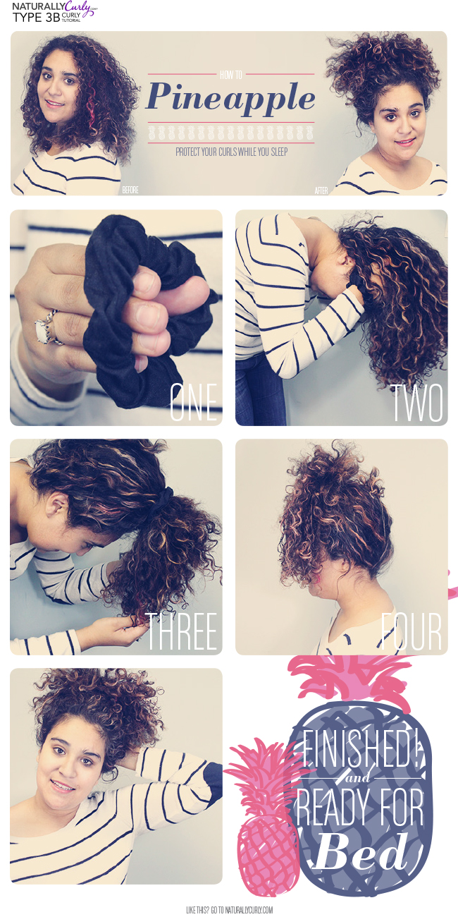 How to pineapple curly hair