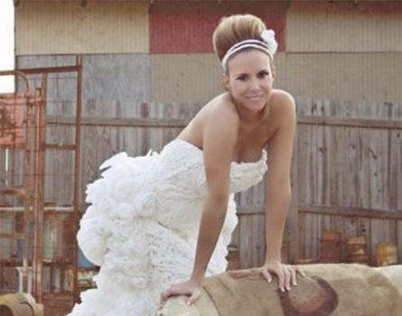 Wedding Hairstyles for Toilet Paper Dresses