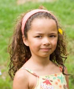 Biracial Baby Girl Curly Hair Little girl