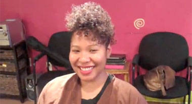 Protective & Stylish Curly Twist Holiday Updo