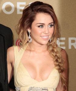 Miley Cyrus with sexy braids