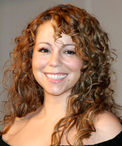 Mariah Carey with long curly hair
