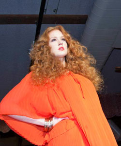 Arrojo's curly haired model at Texture on the Runway