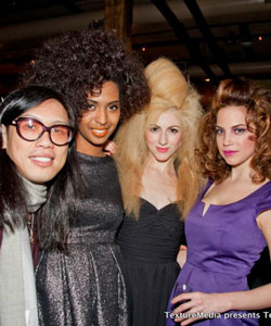 "Minardi's Stephen Wang with Models at ""Texture on the Runway."""