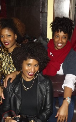 Parted coils at Curls Unleashed launch party