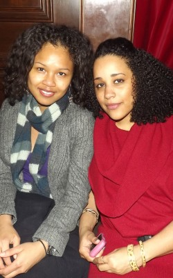 Two women at Curls Unleashed launch party
