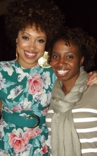 Taren Guy with guest at Curls Unleashed launch party