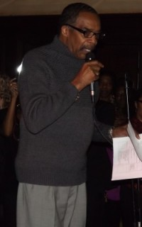 Dr. Hair speaking at Curls Unleashed launch party