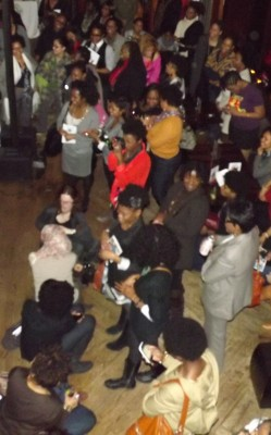 Birds eye view of Curls Unleashed launch party