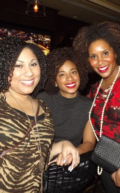EmpressRi, Ashley and Luanda at the Curls Unleashed launch party