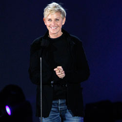Ellen Degeneres on stage.