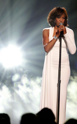Whitney at the 2009 American Music Awards