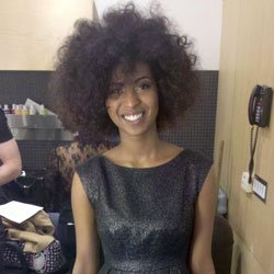 Big fro at Texture on the Runway