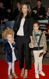 Thandie Newton and daughters