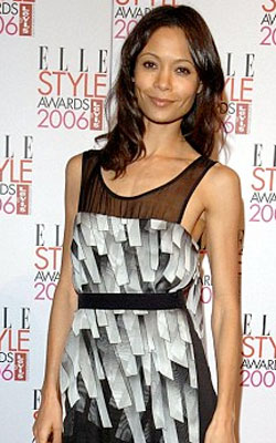 Thandie Newton with straight hair