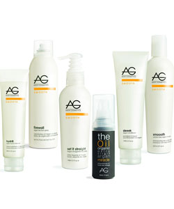 AG hair smoothing products