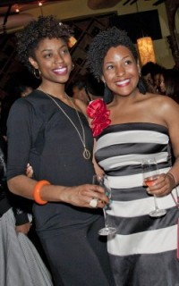 Joy, a TextureMedia volunteer, and Cassidy Blackwell at Texture on the Runway