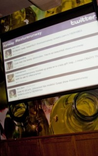Live Twitter feed at Texture on the Runway