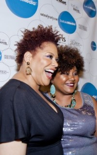 Kim Coles and Afrobella at Texture on the Runway