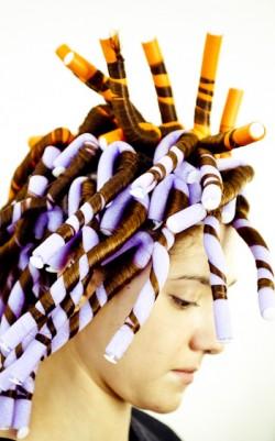 Flexirod set on a Curls Unleashed model.