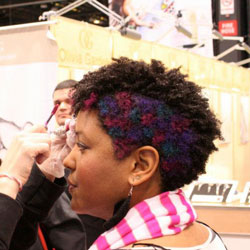 Cassadie Blackwell getting styled at the Texture Pavillion