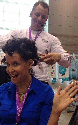 Michelle Breyer gets a pin curl set from Dickey of Hair Rules